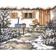 Haft krzyżykowy - do wyboru: kanwa z nadrukiem, nici Ariadna/DMC, wzór graficzny - Zimowy ogródek (No 94535)
