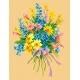Haft krzyżykowy - do wyboru: kanwa z nadrukiem, nici Ariadna/DMC, wzór graficzny - Bukiet kwiatów (No 5164)