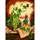 Haft krzyżykowy - do wyboru: kanwa z nadrukiem, nici Ariadna/DMC, wzór graficzny - Martwa natura - białe wino (No 5178)