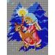 Haft krzyżykowy - do wyboru: kanwa z nadrukiem, nici Ariadna/DMC, wzór graficzny - Dziewczynka z sarenką (No 352)