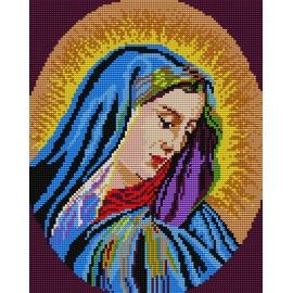 Haft krzyżykowy - kanwa z nadrukiem Madonna (No 377)
