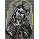 Haft krzyżykowy - do wyboru: kanwa z nadrukiem, nici Ariadna/DMC, wzór graficzny - Chrystus (No 379)