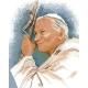 Obrazek do haftu krzyżykowego - kanwa z nadrukiem religijna- Papież - Jan Pawel 2 (No 5203)