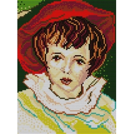 Dziewczynka w czerwonym kapeluszu (No 390)