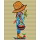 Haft krzyżykowy - do wyboru: kanwa z nadrukiem, nici Ariadna/DMC, wzór graficzny - Chłopiec (No 392)