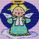 Haft krzyżykowy - do wyboru: kanwa z nadrukiem, nici Ariadna/DMC, wzór graficzny - Aniołek (No 5218)