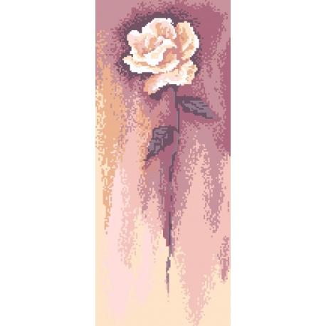 Haft krzyżykowy - do wyboru: kanwa z nadrukiem, nici Ariadna/DMC, wzór graficzny - Biała róża wg B. Sikora (No 94538)