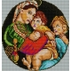 Haft krzyżykowy - do wyboru: kanwa z nadrukiem, nici Ariadna/DMC, wzór graficzny - Madonna della Seggiola Rafael Santi (No 534)