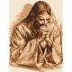 Haft krzyżykowy - do wyboru: kanwa z nadrukiem, nici Ariadna/DMC, wzór graficzny - Modlitwa Jezusa (No 94103) VI