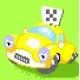 Haft krzyżykowy - do wyboru: kanwa z nadrukiem, nici Ariadna/DMC, wzór graficzny - Taxi (No 5275)