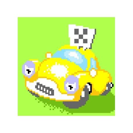 Kanwa do haftu krzyżykowego dla dzieci - Taxi (No 5275)