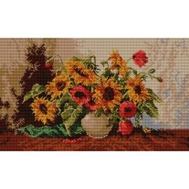Haft krzyżykowy - obrazek do haftowania - Słoneczniki (No 5119)