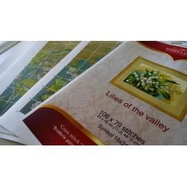 Obrazek do haftowania - Polne kwiaty w koszu wikilnowym (No 9895)