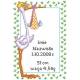 Haft krzyżykowy - do wyboru: kanwa z nadrukiem, nici Ariadna/DMC, wzór graficzny - Narodziny bocian (No 5282)