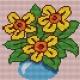 Haft krzyżykowy - do wyboru: kanwa z nadrukiem, nici Ariadna/DMC, wzór graficzny - Bukiet kwiatów (No 5136)