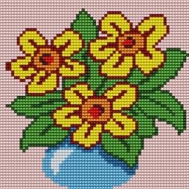 Haft krzyżykowy - Bukiet kwiatów (No 5136)