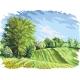 Haft krzyżykowy - do wyboru: kanwa z nadrukiem, nici Ariadna/DMC, wzór graficzny - Cztery pory roku - wiosna (No 5283) VI