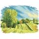 Haft krzyżykowy - do wyboru: kanwa z nadrukiem, nici Ariadna/DMC, wzór graficzny - Cztery pory roku - lato (No 5284) VI
