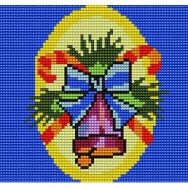 Haft krzyżykowy - do wyboru: kanwa z nadrukiem, nici Ariadna/DMC, wzór graficzny - Dzwoneczek (No 5134)