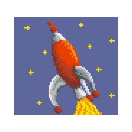 Obrazek do haftu dla dzieci - Rakieta (No 5500)