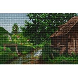 Haft krzyżykowy - do wyboru: kanwa z nadrukiem, nici Ariadna/DMC, wzór graficzny - Na wsi wg E. Zetsche VI (No 94026)