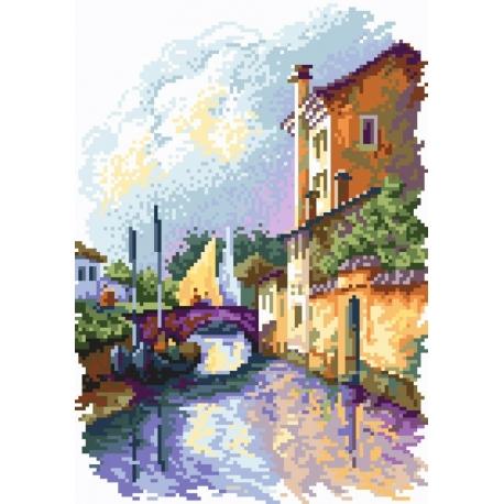 Haft krzyżykowy - do wyboru: kanwa z nadrukiem, nici Ariadna/DMC, wzór graficzny - Most Giuseppe ( No 94606)