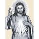 Haft krzyżykowy - do wyboru: kanwa z nadrukiem, nici Ariadna/DMC, wzór graficzny - Jezus (No 94193)