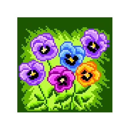 Obrazek do haftu dla dzieci - Bratki (No 5516)