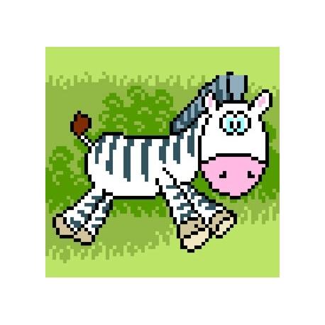 Obrazek do haftu dla dzieci - Zebra (No 5514)