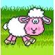 Obrazek do haftu krzyżykowego - kanwa z nadrukiem Obrazek do haftu dla dzieci - Owieczka (No 5512)