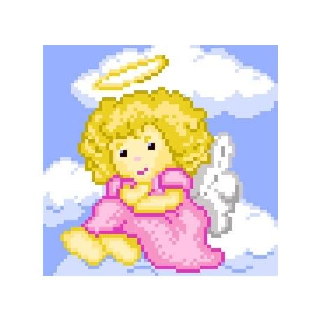 Obrazek do haftu dla dzieci - Aniołek na chmurce (No 5521)