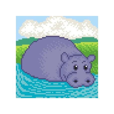 Obrazek do haftu dla dzieci- Hipopotam (No 5541)