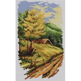 Haft krzyżykowy - do wyboru: kanwa z nadrukiem, nici Ariadna/DMC, wzór graficzny - Cztery pory roku - lato (No 94524)