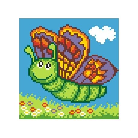 Obrazek do haftu dla dzieci - Motylek (No 5543)