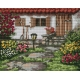 Haft krzyżykowy - do wyboru: kanwa z nadrukiem, nici Ariadna/DMC, wzór graficzny - Wiosenny ogródek (No 94531)
