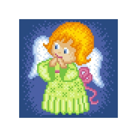 Aniołek w zielonej sukience (No 5553)