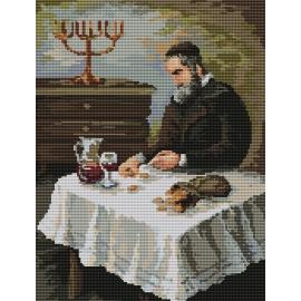 Haft krzyżykowy - do wyboru: kanwa z nadrukiem, nici Ariadna/DMC, wzór graficzny - Sakiewka (No 94530)