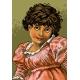 Haft krzyżykowy - do wyboru: kanwa z nadrukiem, nici Ariadna/DMC, wzór graficzny - Dziewczynka w sukience (No 5410)