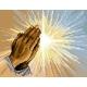 Haft krzyżykowy - do wyboru: kanwa z nadrukiem, nici Ariadna/DMC, wzór graficzny - Modlitwa - dłonie (No 5415)