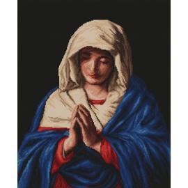 Haft krzyżykowy - do wyboru: kanwa z nadrukiem, nici Ariadna/DMC, wzór graficzny - Madonna (No 9746) VI