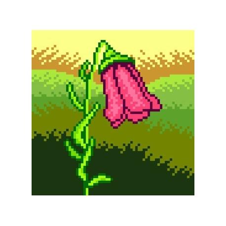 Haft krzyżykowy - do wyboru: kanwa z nadrukiem, nici Ariadna/DMC, wzór graficzny - Tulipan (No 5573)