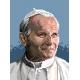 Haft krzyżykowy - do wyboru: kanwa z nadrukiem, nici Ariadna/DMC, wzór graficzny - Jan Paweł II (No 5416)