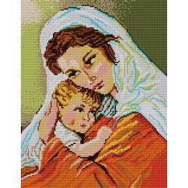 Haft krzyżykowy - do wyboru: kanwa z nadrukiem, nici Ariadna/DMC, wzór graficzny - Matka Boska (No 5141)