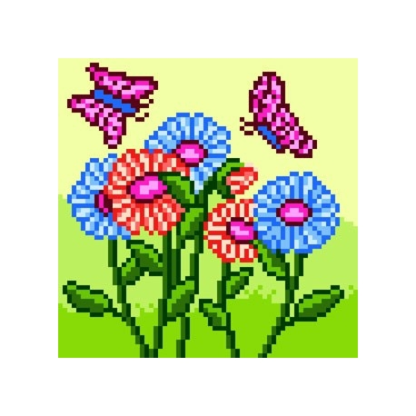 Kwiatki z motylkami (No 5569)