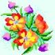 Haft krzyżykowy - do wyboru: kanwa z nadrukiem, nici Ariadna/DMC, wzór graficzny - Bukiet kwiatów (No 5224)