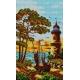 Haft krzyżykowy - do wyboru: kanwa z nadrukiem, nici Ariadna/DMC, wzór graficzny - Latarnia morska (No 5154)