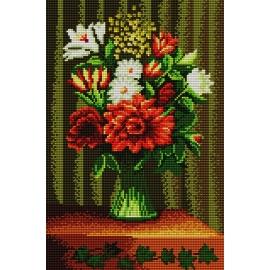 Haft krzyżykowy - zestaw do haftowania ściegiem krzyżykowym -Wazon z kwiatami wg Henri Rousseau (No 5159)