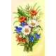 Haft krzyżkowy - Bukiet kwiatów (No 5231)