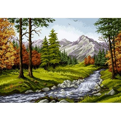 Krajobraz górski - rzeka (No 7065)