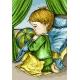 Haft krzyżykowy - do wyboru: kanwa z nadrukiem, nici Ariadna/DMC, wzór graficzny - Modlitwa chłopca (No 7064)